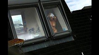 Window spy older busty mature in bath 8(she tease me)