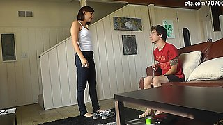 Anais Jolie Caught and forced to worship my feet