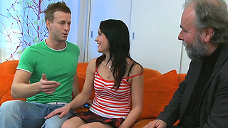 Dazzling girlie can't get enough of fuck