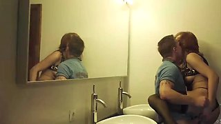 wife cheats with stranger in bathroom at party