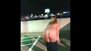 My friend took challenge to strip in public