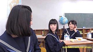 Jav Schoolgirls Suck The Glory Hole Idol Teens Deep Throat Through The Desk Wall Chalk Board Eat Cum
