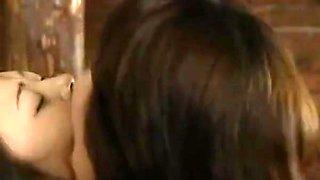 Aggressive Lesbian Spit Kissing & Bondage