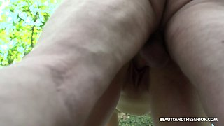 Wandering in the woods nudist Lily Ray gets finally fucked well