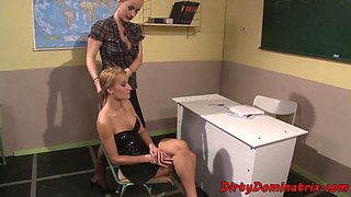 Tormented dominated schoolgirl turned on