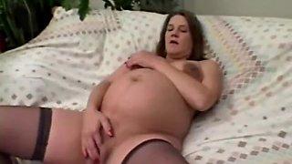 mature preggo home masturbation