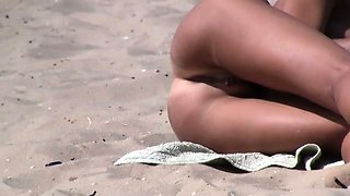 Amazing young nudists touch each other\'s bodies