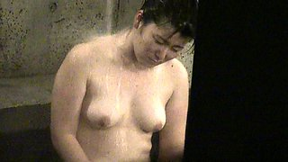Sweet amateur Japanese ladies enjoy a hot bath on hidden cam
