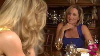 Brandi Love And Jodi West In Dinner Date Lesbians And