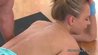Yoga teacher eats and fucks hot flexible blonde