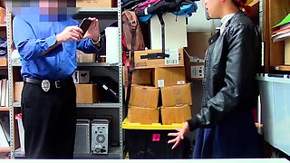 ShopLyfter - Hot Mom and Daughter Share Security Cock