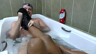 Daddy Fucks Asian Boy In Shower