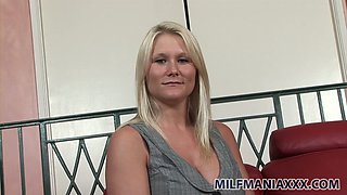 Spoiled blond milf Julianna Jolene loves seducing a man
