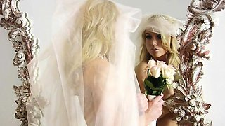 Here comes the bride all dressed in... Well at least Kayden