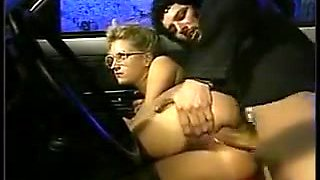 Shy girl with glasses gets fucked