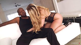 Big butt blonde squirting on BBC