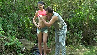 Old and young XXX video with perverted man and marvelous doll