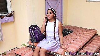 Latina babysitter teen