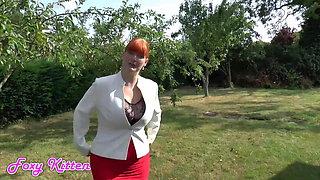 Red Mistress Gets her Socks Wet