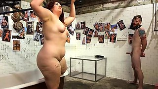 Fat femdoms pegging submissive man