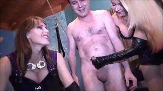 Goddess Phoenix and Ms. Nicolette BALLBUSTING Andrea Dipre