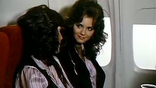 Hardcore retro sex scene with a blonde flight attendant