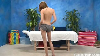 Cute 18 year old Gia Love seduced and fucked hard after her
