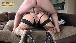 PASCALSSUBSLUTS - Tattooed Pixie Peach Double Penetrated