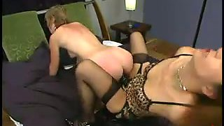 Blonde Chick Chloe Catastrophe Spanked and Strapon Fucked in Femdom