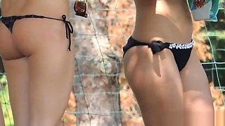 Cameltoe Bikini Sexy Girls beach Spy Hidden Camera Video HD