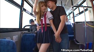 Tia gets fucked hard in a very public place