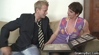 Hot threesome with nasty old whore