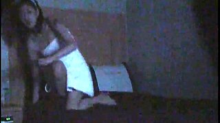 Slim Oriental babe gets banged hard all over the bed