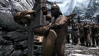Skyrim villainess Elenwen fucked whipped pt1