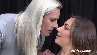Fitness Turns Into Lesbian Pissing Session
