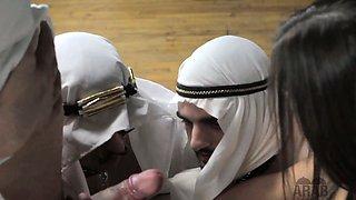 American mistress cuckolds both her Arab husbands