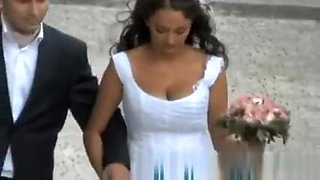 Bride on a walk