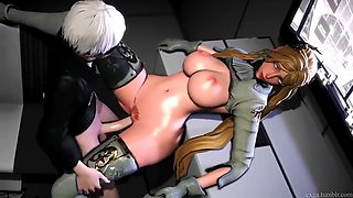 Yorha commander and 9s sexual rendevous by exga