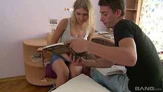 Big dick is not a problem for tight teen anus of naughty student Joan