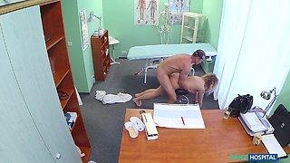 Angel in Cheating blonde sucks and fucks after striking a fast surgery deal with the doctor - FakeHospital