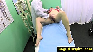 Doctor exams euro babes pussy before blowjob