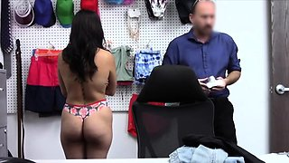 Fucking thicc Latina teen thief at the office