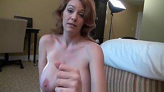 Crazy Amateur record with Redhead, Big Tits scenes