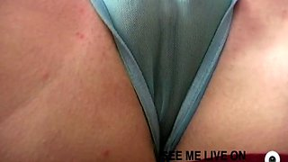 jamie linn shows her huge cameltoe to the camera while rubbing it joyfully