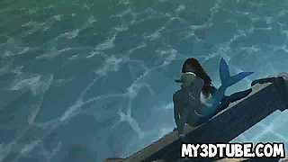 3D cartoon Little Mermaid getting fucked underwater