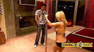 swinger couples getting naked and fucking in unforgettable foursome