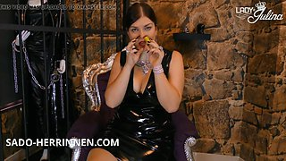 Pvc mistress gives poppers joi for the dirty wanker slave