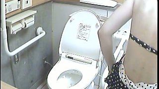 Every girl pissing on this toilet shows her ass or cunt