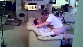 Lustful European babe bounces on a hard dick on hidden cam