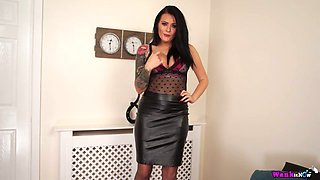 British seductress Charlie Atwell takes off her clothes and gets nasty